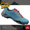 کفش دوچرخه کوهستان قفل شو شیمانو مدل ام تی 300 Shimano MT300 MTB SPD Lock Shoes Blue