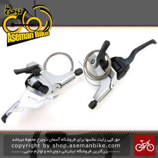 نمایندگی شیمانو دسته دنده و دسته ترمز یکپارچه مدل ایکس تی دبل کنترل ام 761 3 در 9 سرعته Shimano Shifter And Brake Lever Bicycle XT ST-M761 3x9 Speed