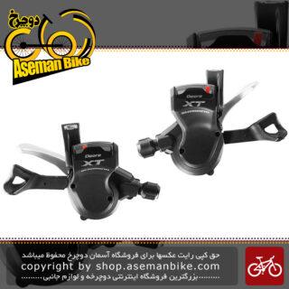 نمایندگی شیمانو دسته دنده 3 در 9 سرعته مدل ایکس تی ام 770 Shimano Shifter Bicycle Deore XT SL-M770 3x9 speed Japan