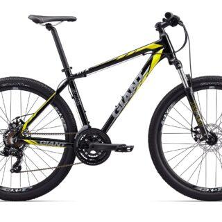 دوچرخه کوهستان دو منظوره جاینت مدل ای تی ایکس 2 مشکی زرد سایز 27.5 Giant ATX 27.5 2 2017