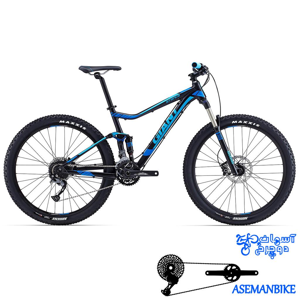 دوچرخه فول ساسپینشن جاینت مدل استنتس 2 سایز ۲۷٫۵ Giant Stance 2 2015
