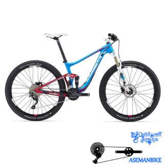 دوچرخه کوهستان لیو فول ساسپینشن مسابقات کربن زنانه بانوان جاینت لیو مدل لاست ادونس 2 سایز ۲۷٫۵ Giant LIV lust Advanced 2 2016