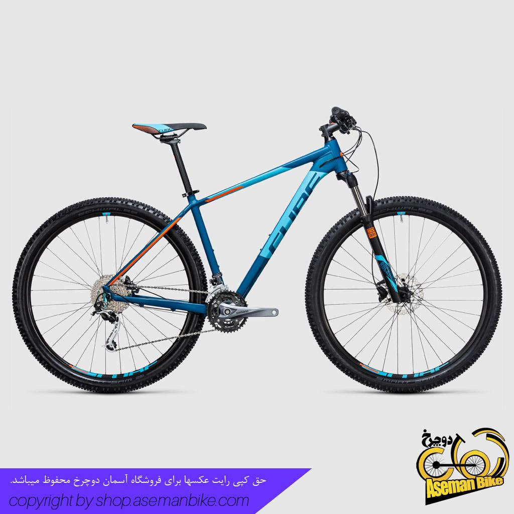 دوچرخه کوهستان کراس کانتری کیوب مدل آنالوگ سایز ۲۷.۵ نارنجی آبی 2017 Cube Mountain Bicycle Analog 27.5 2017