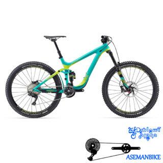 دوچرخه آلمانتین کربن 6.3 اینچ جاینت مدل رین 1 سایز 2.75 Giant Reign Advanced 1 2016
