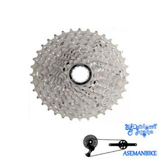 خودرو دوچرخه شیمانو دیور اچ جی 50 ده سرعته Shimano Deore Cassette CS-HG50 10 speed 11-36