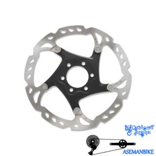 روتور صفحه دیسک ترمز دوچرخه شیمانو مدل اس ام آرتی 76 ایکس تی 6 پیچ سایز 160 Shimano Disc Rotor XT 6 Bolt SM-RT79 160mm