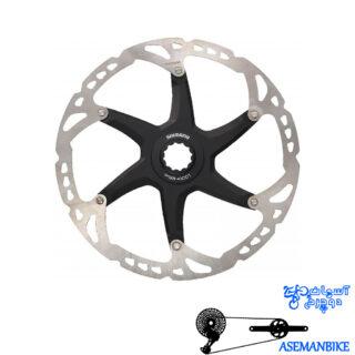 روتور صفحه دیسک ترمز دوچرخه شیمانو مدل اس ام آرتی 79 ایکس تی سنترلاک سایز 180 Shimano Disc Rotor XT Center Lock SM-RT79 180mm