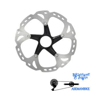 روتور صفحه دیسک ترمز دوچرخه شیمانو مدل اس ام آرتی 81 ایکس تی آیس تک سنتر لاک سایز 180 Shimano Disc Rotor XT Ice-Tech Center Lock SM-RT81 180mm