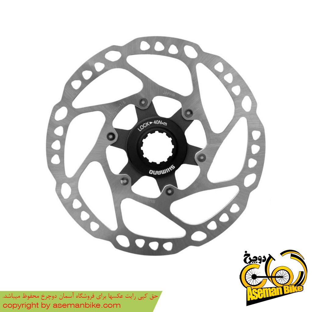 روتور صفحه دیسک ترمز دوچرخه شیمانو مدل اس ام آرتی64 دیور سنتر لاک سایز 160 Shimano Disc Rotor Deore Centerlock SM-RT64 160mm