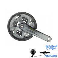 طبق قامه دوچرخه تریکینگ شیمانو ایکس تی 771 کی Shimano FC-M771K XT 48X36X26