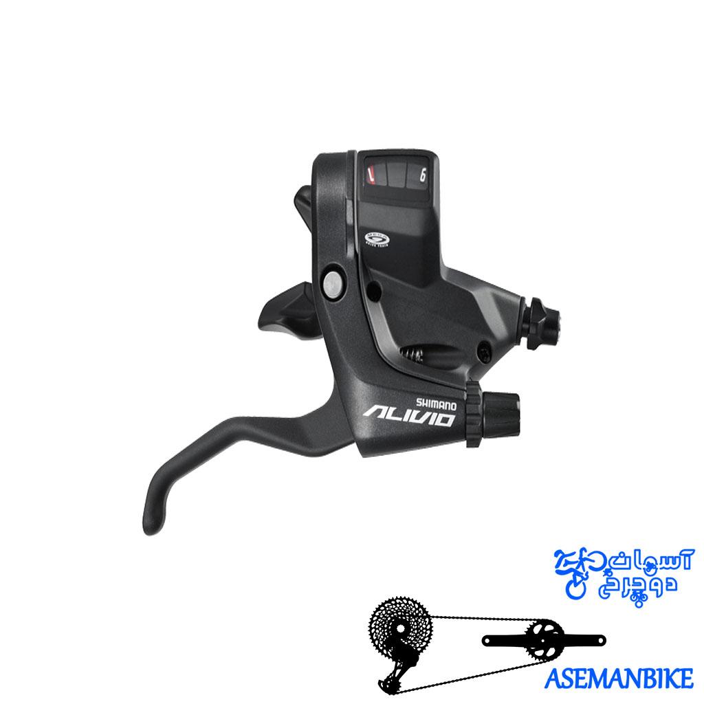 دسته دنده شیمانو الیویو ام 430 نه سرعته Shimano Alivio ST-M430 3x9-Speed Brake Shift Lever Set