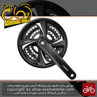 طبق قامه دوچرخه کوهستان شیمانو تورنی تی ایکس 801 48 و 38 و 28 دندانه Shimano Crankset Bicycle Tourney TX FC-TX801 48-38-28T