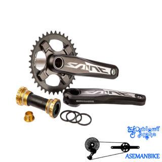 طبق قامه دوچرخه دانهیل شیمانو ساینت ام 825 ده سرعته Shimano SAINT 10 speed Crankset FC-M825