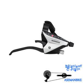 دسته دنده شیمانو تورنی تی ایکس 800 هشت سرعته Shimano Tourney TX ST-TX800 Shift Brake Lever 3x8 speed