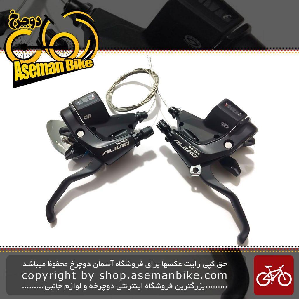 دسته دنده و دسته ترمز یکپارچه شیمانو مدل آلیویو اس تی ام 430 ۳ در ۹ سرعته Shimano Shifter And Brake Lever Bicycle Alivio ST-M430 3×9 Speed