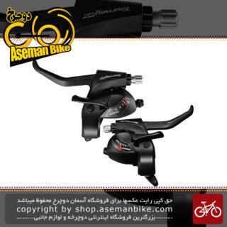 دسته دنده و دسته ترمز یکپارچه شیمانو مدل تورنی تی ایکس اس تی تی ایکس 800 3 در 8 سرعته Shimano Shifter And Brake Lever Bicycle Tourney TX ST-TX800 3×8 Speed