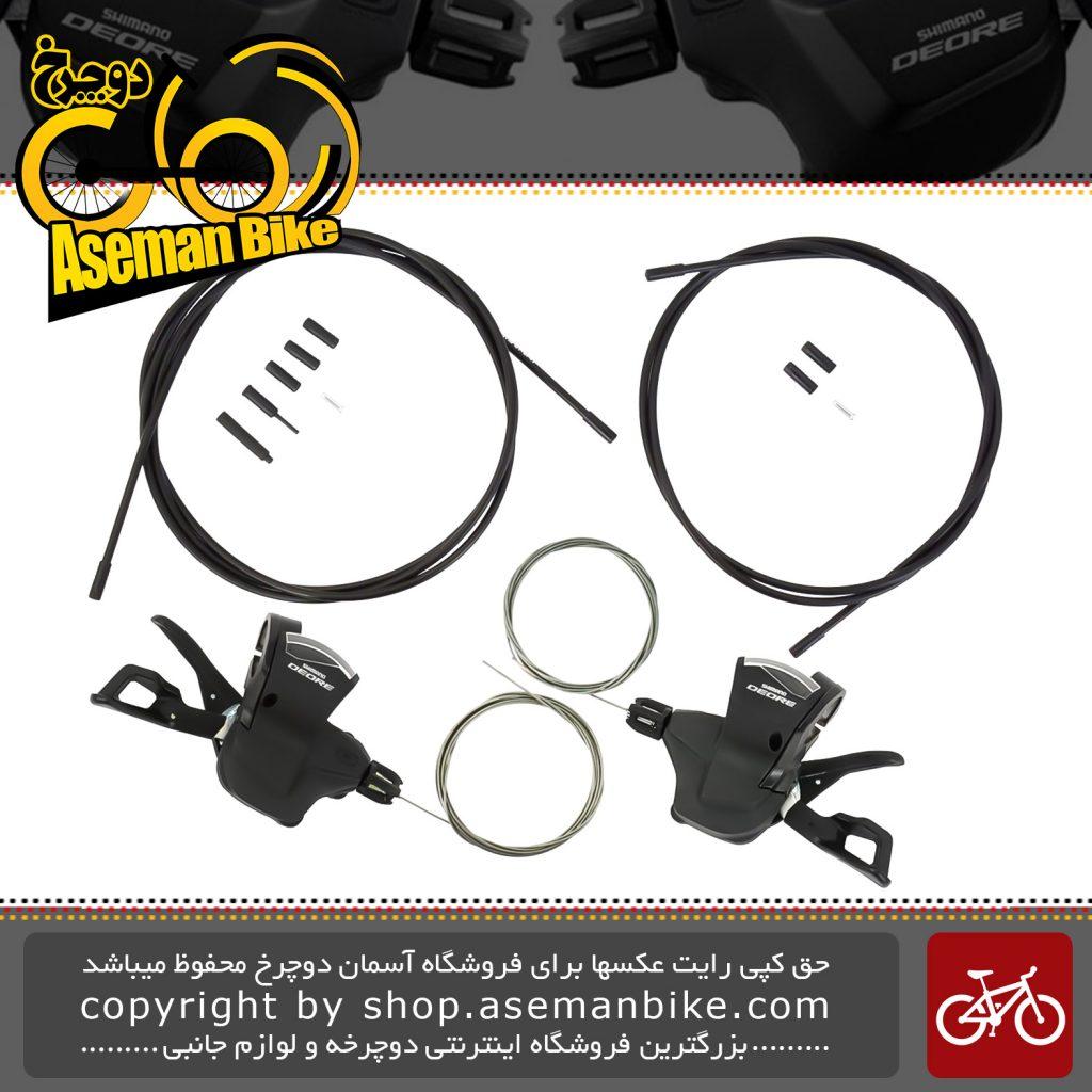 دسته دنده شیمانو دیور اس ال 6000 2/3 در 10 سرعته Shimano Shifter Bicycle Deore SL-M6000 2 3x10 Speed