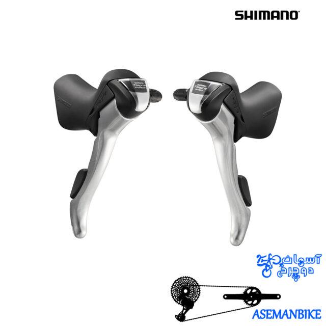 دسته دنده شیمانو تیاگرا 4600 دو در ده سرعته Shimano Tiagra 4600 2x10 Speed STI Shifter Set