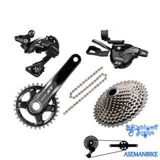 ست کامل دنده دوچرخه شیمانو ایکس تی یازده سرعته Group Set Shimano XT M8000 1x11