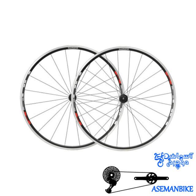 طوقه کامل دوچرخه شیمانو وی اچ Shimano WH R501A F&R