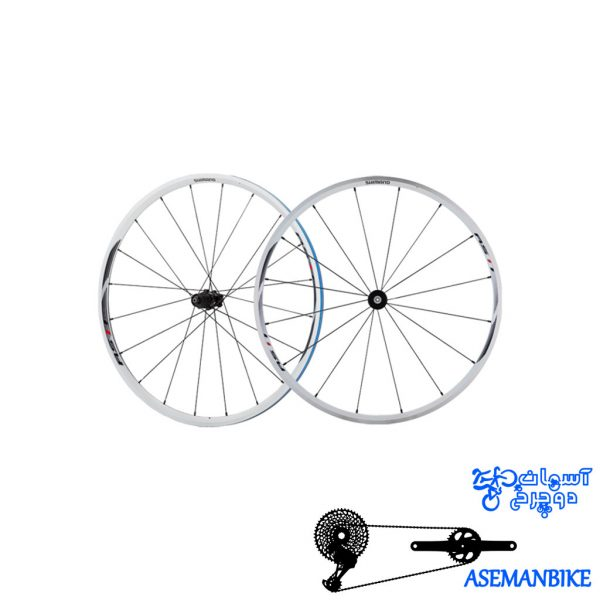 طوقه کامل دوچرخه شیمانو اچ وی برای 8 9 10 و 11 سرعته Shimano WH RS21 F16H R20H