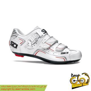 کفش دوچرخه سواری کورسی جاده سی دی ایتالیا مدل لول سایز 41 سفید SIDI On Road Shoes Italy LEVEL
