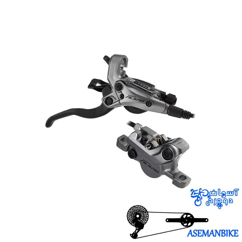 ست دنده ترمز هیدرولیک دوچرخه کوهستان شیمانو Shimano Alivio M4050