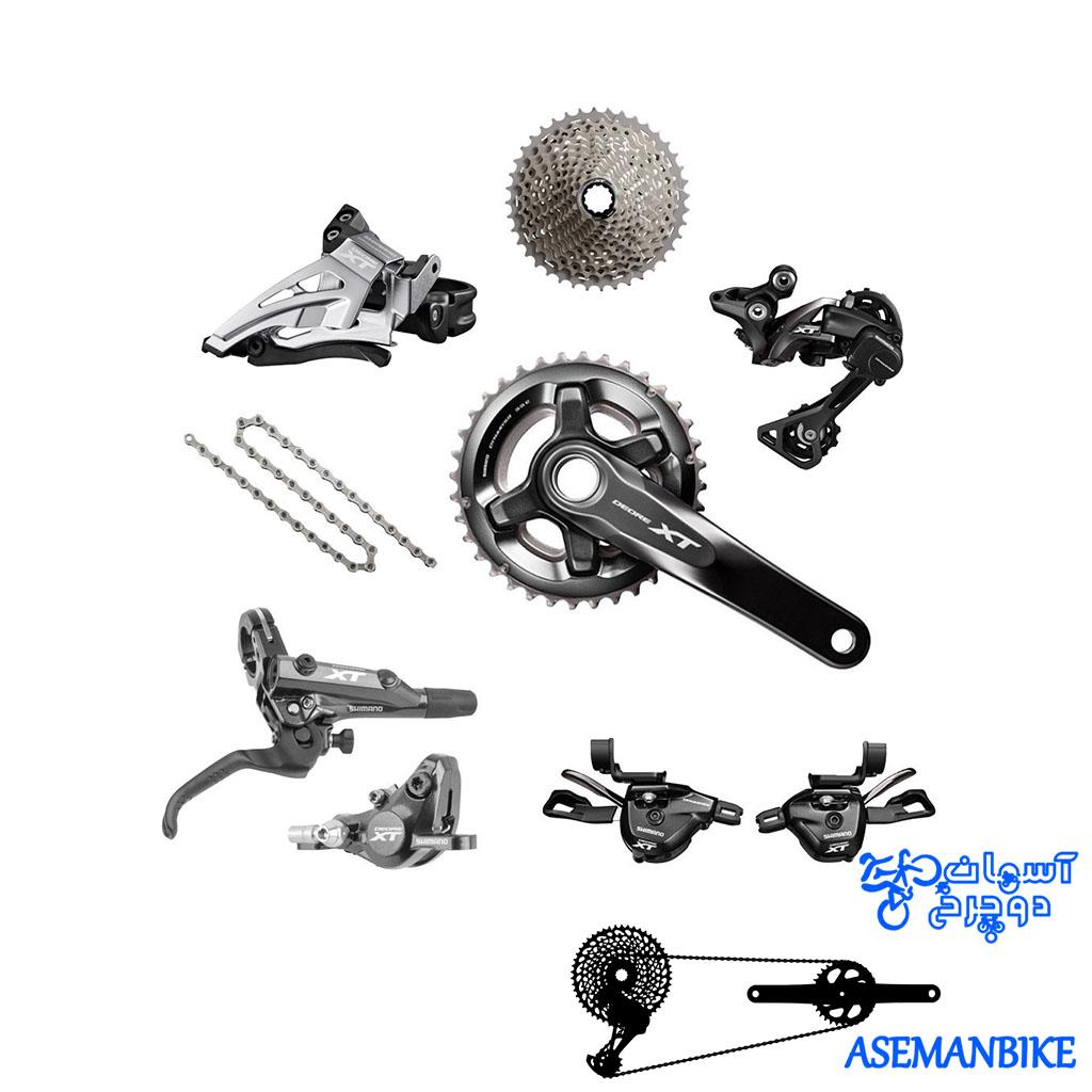 ست کامل دنده و ترمز شیمانو ایکس تی 11 سرعته Group Set Shimano XT M8000 2x11