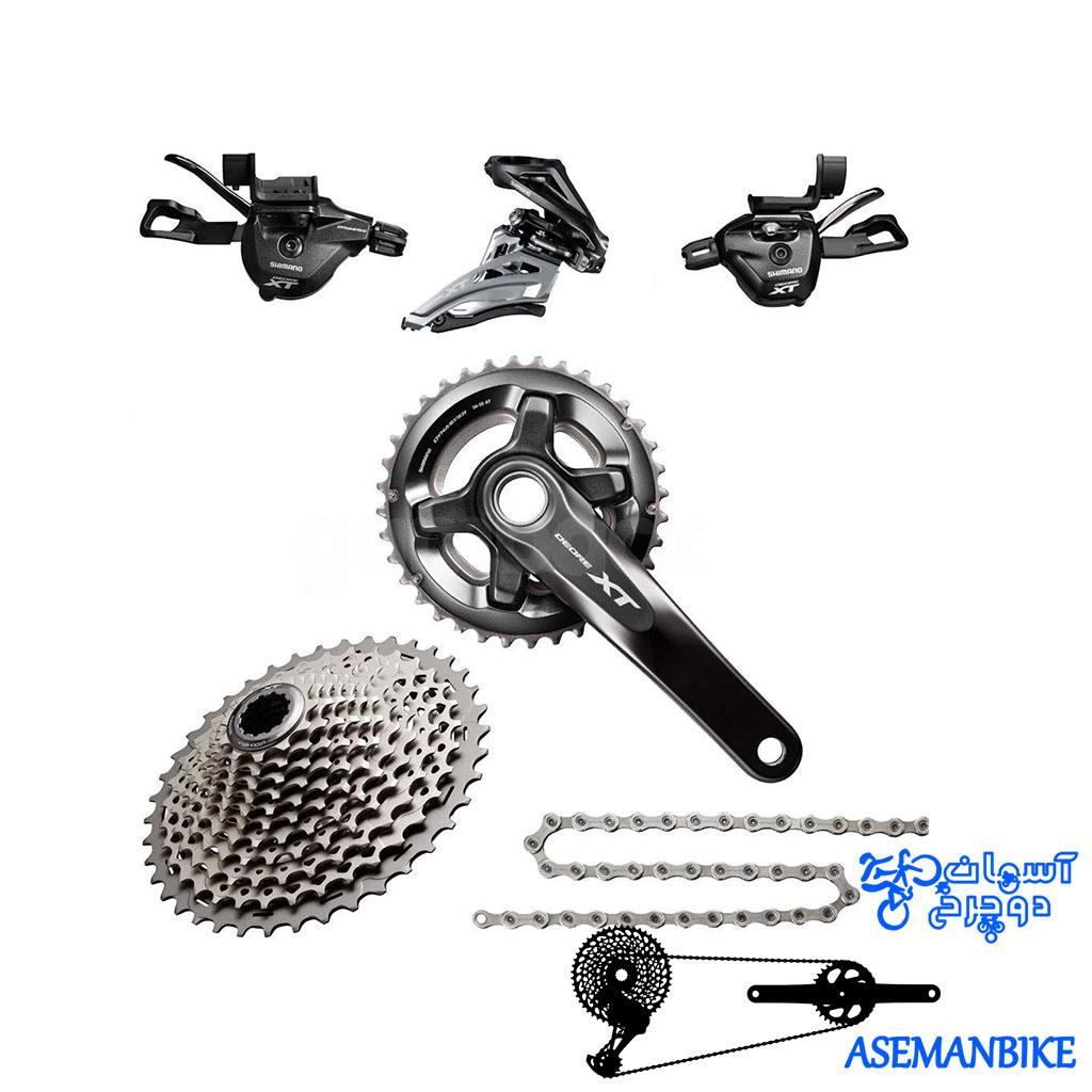 ست کامل دنده شیمانو ایکس تی 11 سرعته Gruop Set Shimano XT M8000 2×11