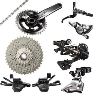 ست کامل دنده و ترمز دوچرخه ایکس تی ار 11 سرعته Group Set Shimano XTR M9000 2x11