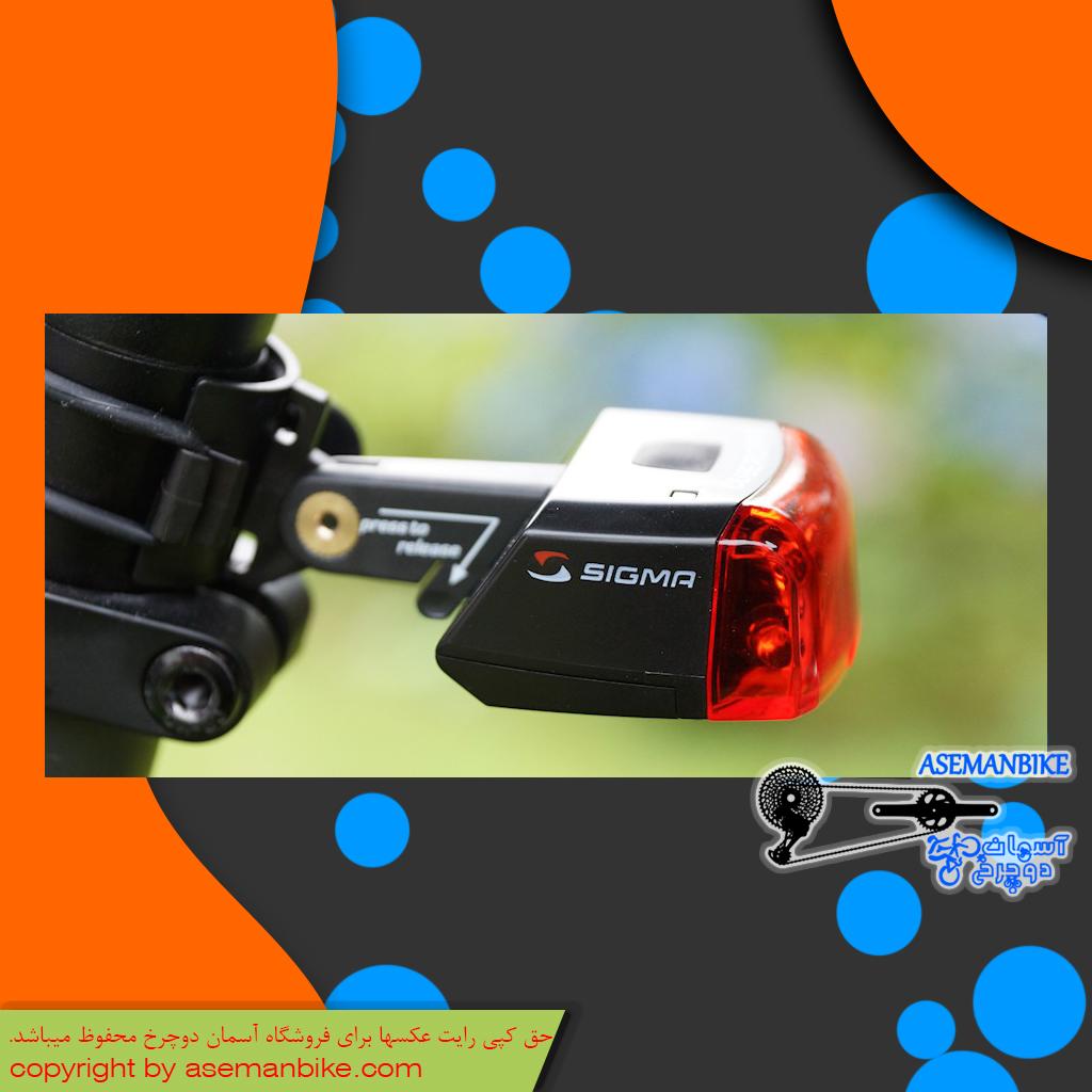چراغ خطر عقب دوچرخه سیگما مدل کیوب رایدر دو Sigma Bicycle Red Backlight Cuberider II