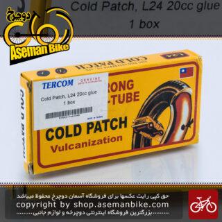 کیت پنچرگیری چسب و وصله تایر و تیوپ برند تابز آپ وصله 24 تایی بزرگ به همراه مایع چسب 20 سی سی ساخت تایوان Clod Patch Large 24 + 20cc Glue Tercom Taiwan