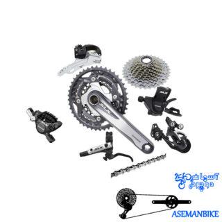 ست کامل دنده ترمز شیمانو اس ال ایکس 10 سرعته Shimano Group set SLX 3x10