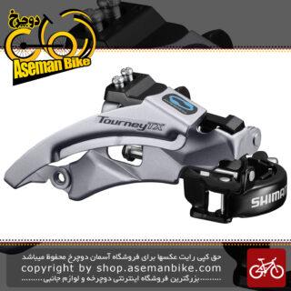طبق عوض کن دوچرخه شیمانو تورنی تی ایکس Shimano TOURNEY TX FD-TX800-TS6 TOP SWING Front Derailleur (3x8-7-6speed)