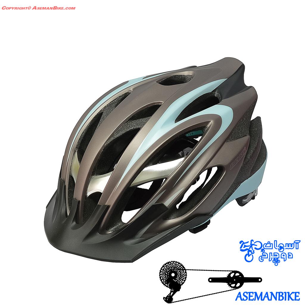 کلاه دوچرخه سواری جاینت مدل ایکزیون نقره ای و بادمجانی Giant Helmt IXION Silver