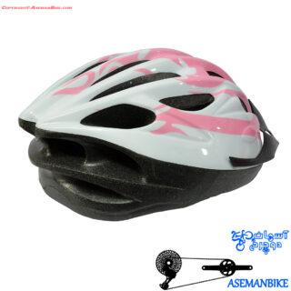 کلاه دوچرخه سواری رولر بلید سفید صورتی  Rollerblade Helmet Bicycle White Pink