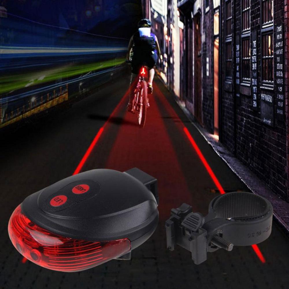 چراغ عقب دوچرخه مدل لیزر تیل لایت Laser Tail Light