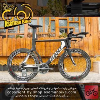 دوچرخه حرفه ای کورسی جاده جاینت مدل ترینیتی کربن ادونس اس ال 0 با سیستم دنده برقی دورایس Giant Trinity Advanced SL 0 2012