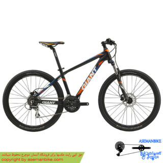 دوچرخه کوهستان جاینت مدل رینکون دیسک مشکی نارنجی سایز 27.5 2018 Giant Bicycle Rincon Disc 27.5 2018
