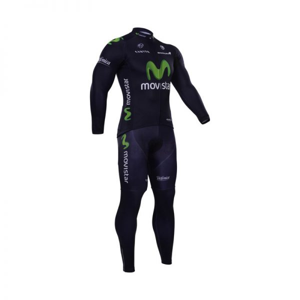 لباس دوچرخه ست کامل پیراهن شلوار دوبنده موی استار Cycling Jersey Bib Pants Set Movistar