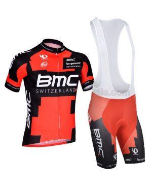 لباس دوچرخه ست کامل پیراهن شورت دوبنده بی ام سی Cycling Jersey Bib Shorts Set BMC