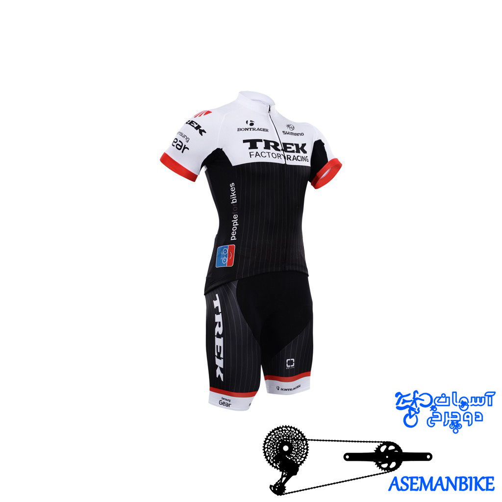 لباس دوچرخه ست کامل پیراهن شورت دوبنده ترک Cycling Jersey Bib Shorts Set TREK
