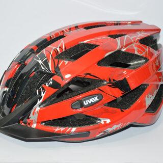 کلاه دوچرخه یوکس آلمان مدل آی و سی قرمز مشکی Uvex Helmet I-VO C