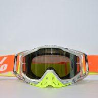 عینک دوچرخه دانهیل 100% مدل ریس کرفت نقره ای فسفری نارنجی Goggles 100% Race Craft