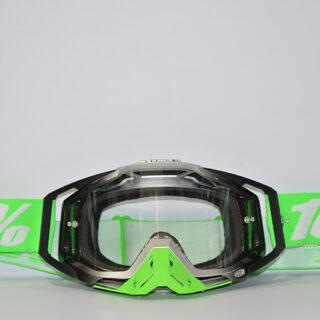 عینک دوچرخه دانهیل 100% مدل ریس کرفت مشکی نقره ای سبز Goggles 100% Race Craft