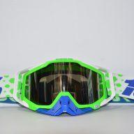 عینک دوچرخه دانهیل 100% مدل ریس کرفت سبز سفید آبی Goggles 100% Race Craft