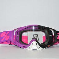 عینک دوچرخه دانهیل 100% مدل ریس کرفت مشکی بنفش سفید Goggles 100% Race Craft