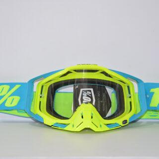 عینک دوچرخه دانهیل 100% مدل ریس کرفت فسفری آبی Goggles 100% Race Craft
