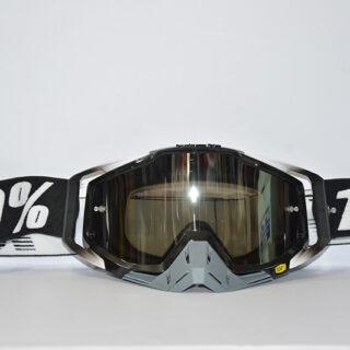 عینک دوچرخه دانهیل 100% مدل ریس کرفت مشکی سفید خاکستری Goggles 100% Race Craft
