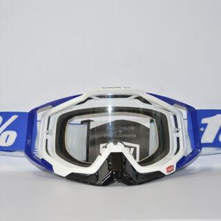 عینک دوچرخه دانهیل 100% مدل ریس کرفت سفید مشکی آبی Goggles 100% Race Craft